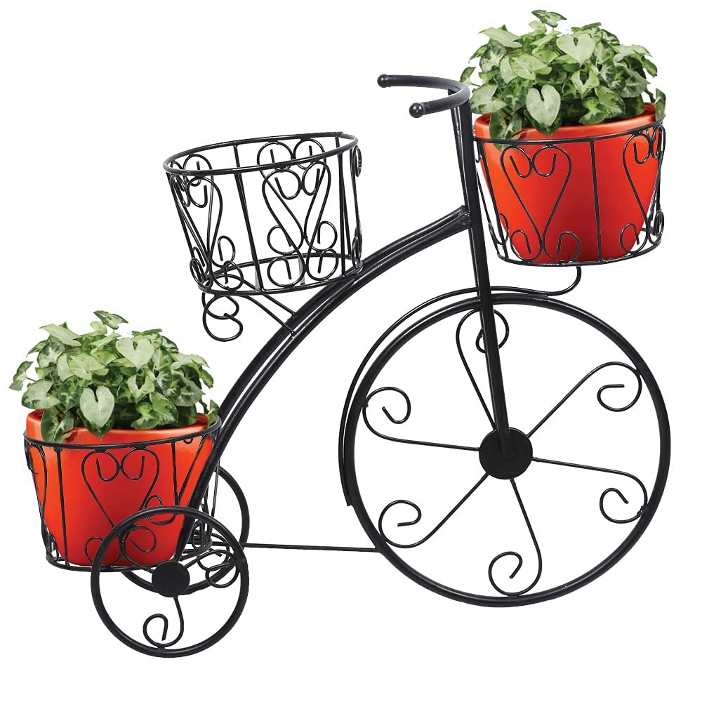Cycle Planter Metal Stand for 3 Planters