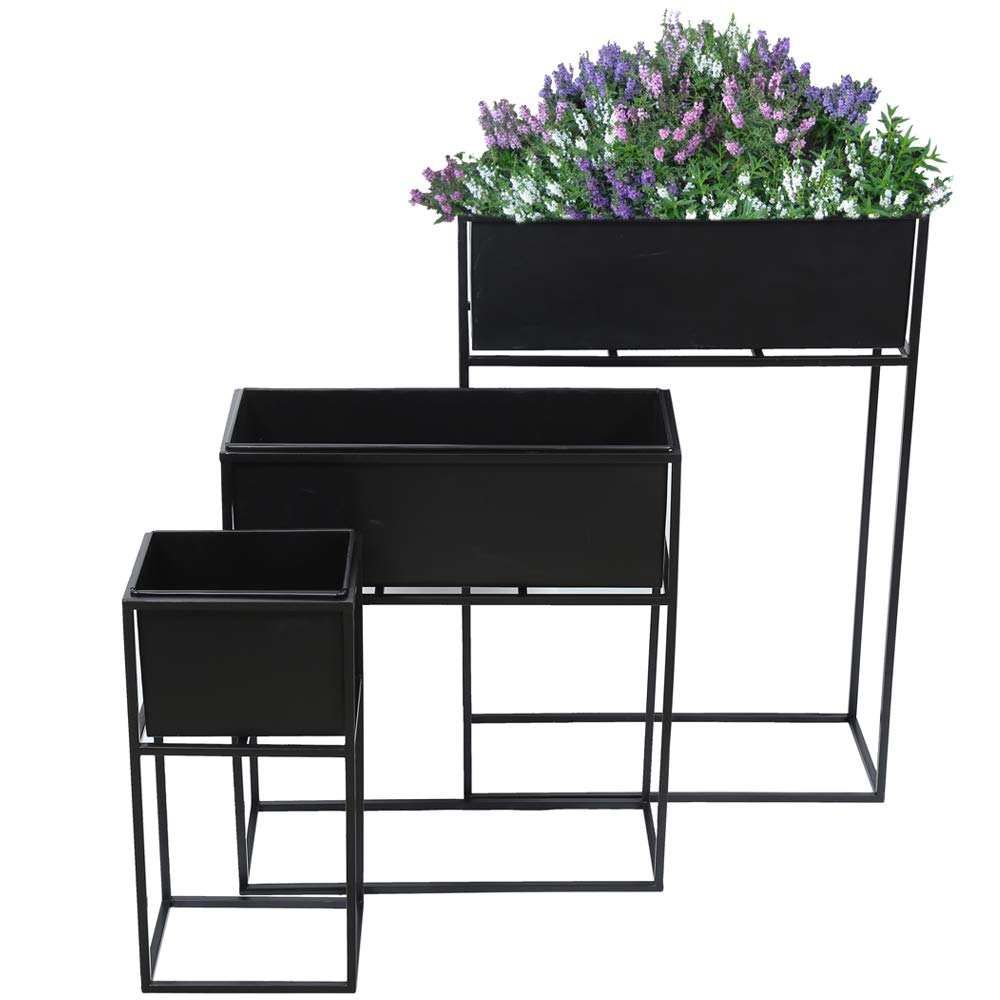 Planter with Strong Meta Stand - Set of 3 in one