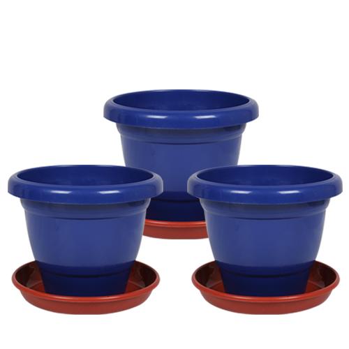 10-inch-collar-pot-with-bottom-plate-pack-of-3-blue