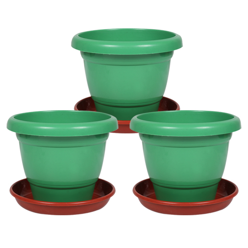 12-inch-collar-pot-with-bottom-plate-pack-of-3-green