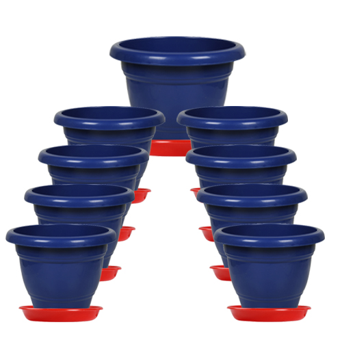 14-inch-collar-pot-with-bottom-plate-pack-of-3-blue