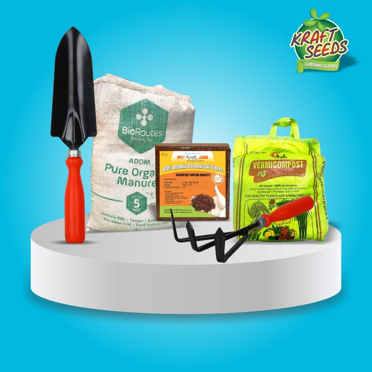 gate-garden-do-it-yourself-coco-peat-5kg-organic-manure-5-kg-vermicompost-5kg-with-trowel-cultivator-upto-75kg-of-potting-soil-mix-at-home