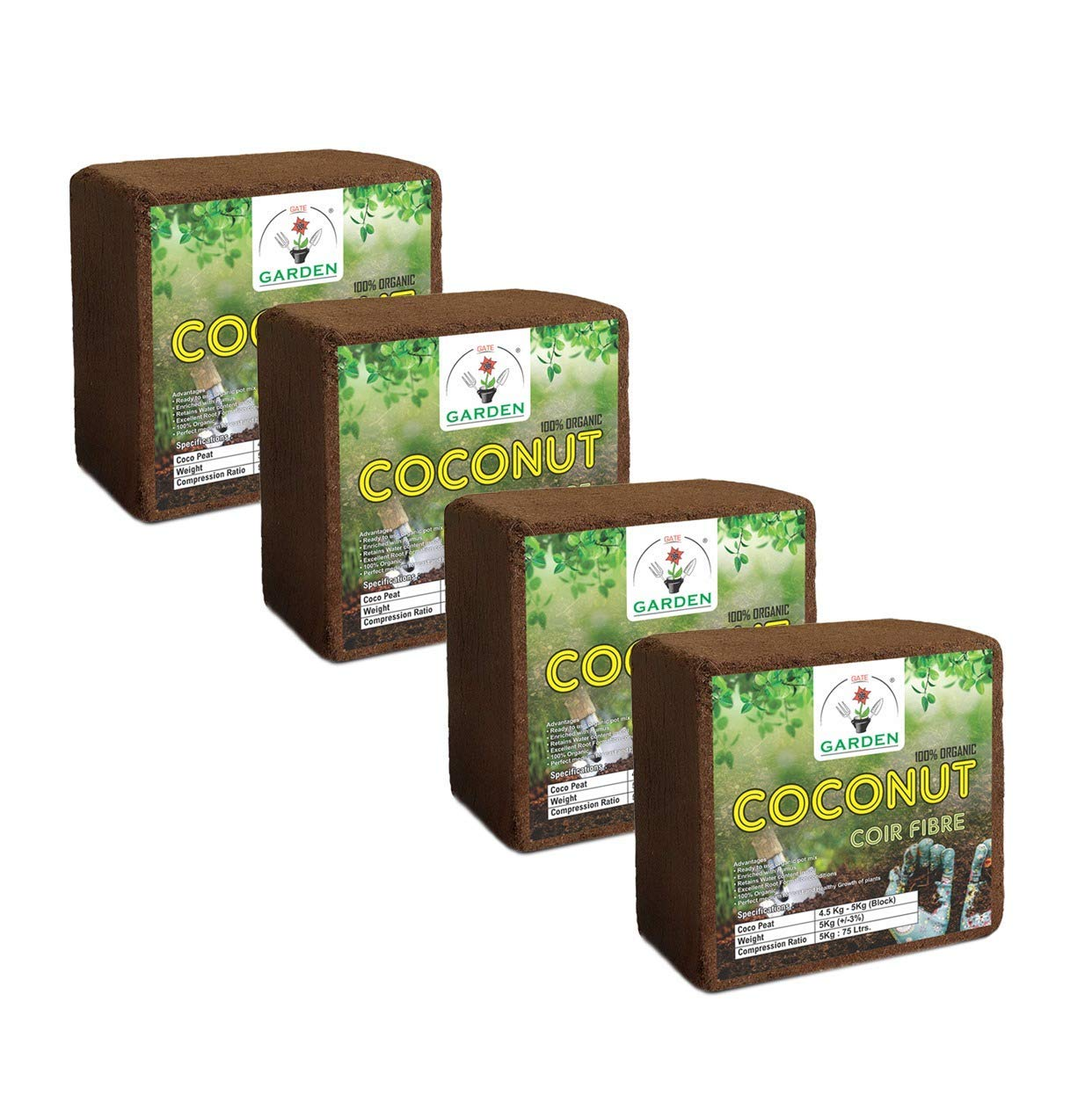 Kraft Seeds Gate Garden Cocopeat GRO-peat Block, Expands Up to 300 litres of Coco Peat Powder