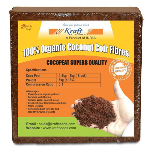 Cocopeat / Agropeat Use for Fast Germination 5 kg ( 1 Pc ) - Low EC Seived Material