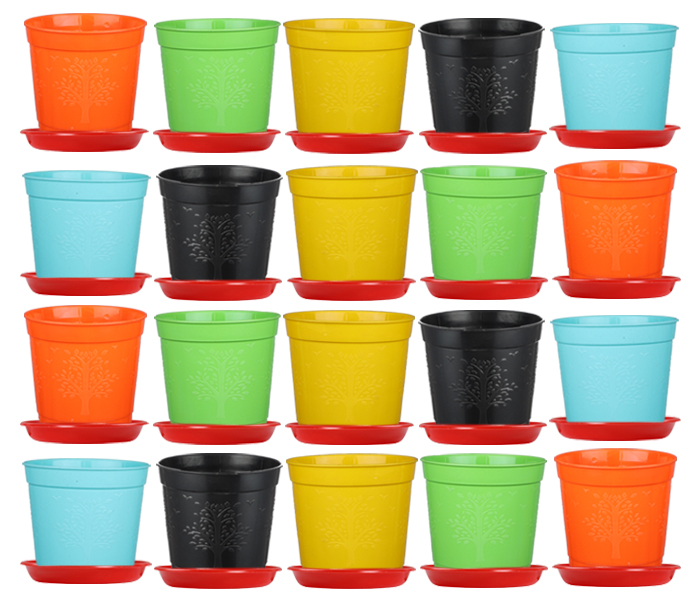 6-inch-plastic-seedlings-orange-colour-nursery-pot-planter-container-seed-starting-pot-5-pots-tray