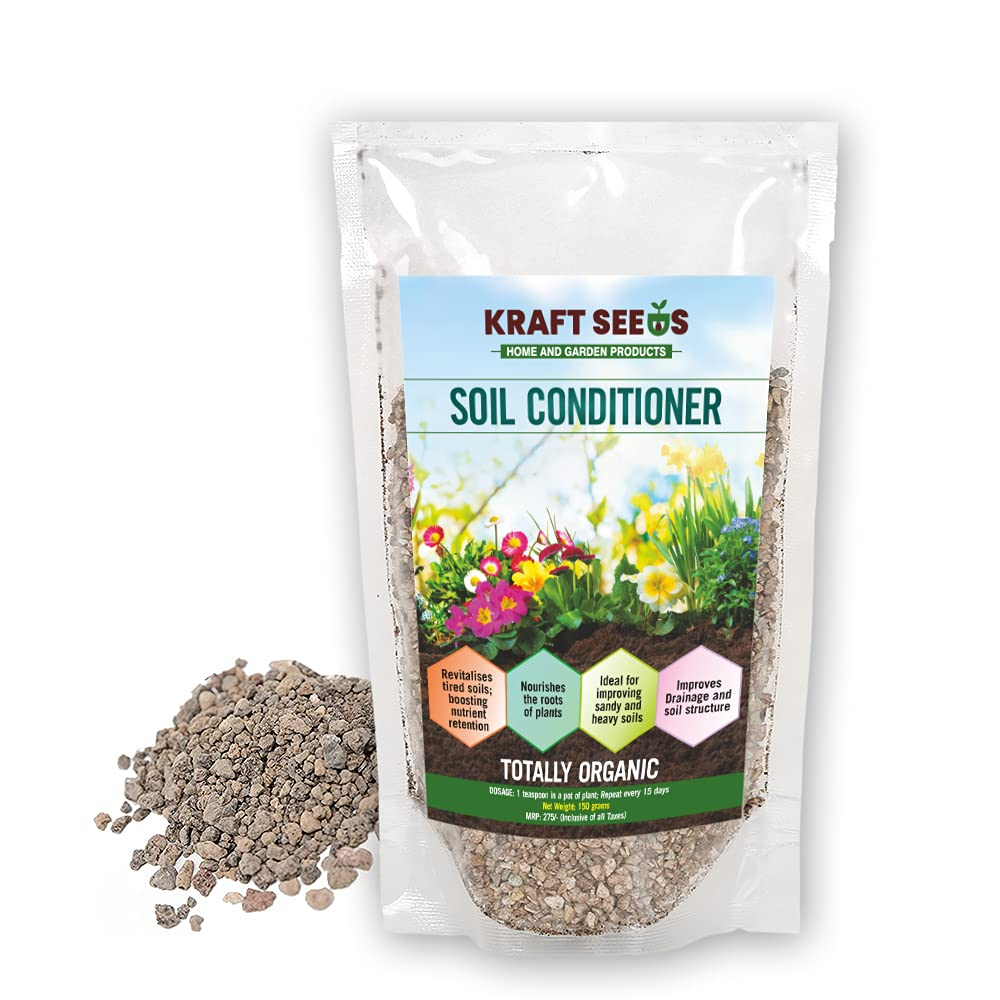 KRAFT SEEDS Soil Conditioner for Healthy Plant Growth Organic Plant Root Nourishment Growth Booster for Flowers Vegetables Herbs Home Gardening