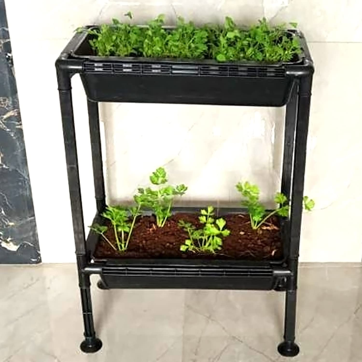 Kraft Seeds Growing Rack Stack Up Planter – Double Tray Kit for Home Garden Use