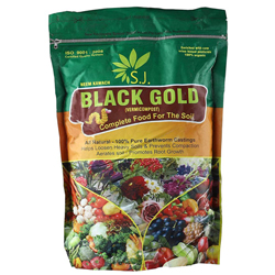 Vermicompost Black Gold Complete Food for Soil by S.J Organics - 1 KG