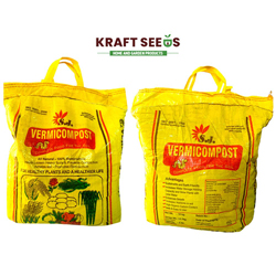 Kraft Seeds Vermicompost for All Kinds of Plants 10kg, Black Gold, , Enriched with Cow Urine, 100% Organic