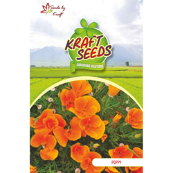 POPPY DBL RED Flower Seeds Pack for Home and Balcony Gardening